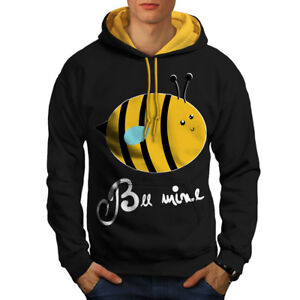 Funny Joke Men Pun gold Mine Bee Hood Hoodie Black New Contrast tq4pEaOx