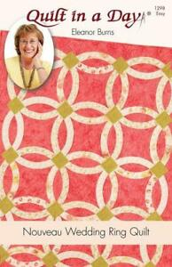 Nouveau Wedding Ring Pattern Quilt In A Day Eleanor Burns 1298 Easy