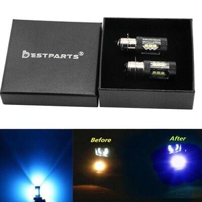 For Yamaha Bruin 350 YFM350BA 2004 2005 2006 LED Headlight Bulbs White YFM350FA