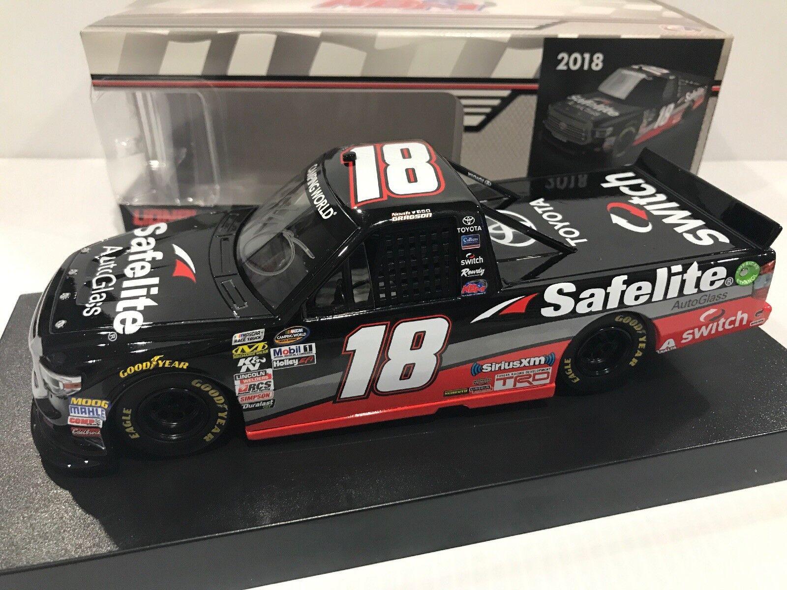 2018 Noah gragson SAFELITE KBM  18 Toyota Tacoma dédicacé 1 203