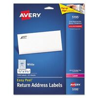 Avery Easy Peel Return Address Labels - Ave5195
