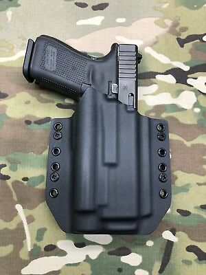 Black Kydex IWB Holster for Glock 17 GEN5 Olight PL-2 Valkyrie w//adj Retention