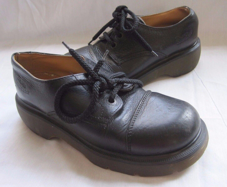 Meda Uomo Vintage 1980s Dottore Martens Scarpe Stivali Air Wair pelle Fatto