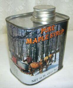 1984-New-England-Maple-Sugar-Tin-Draft-Horses-and-Sugar-Camp