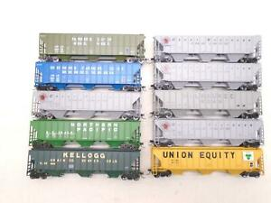 Athearn/others Ho Covered Hoppers(10), Great Northern ++, x28