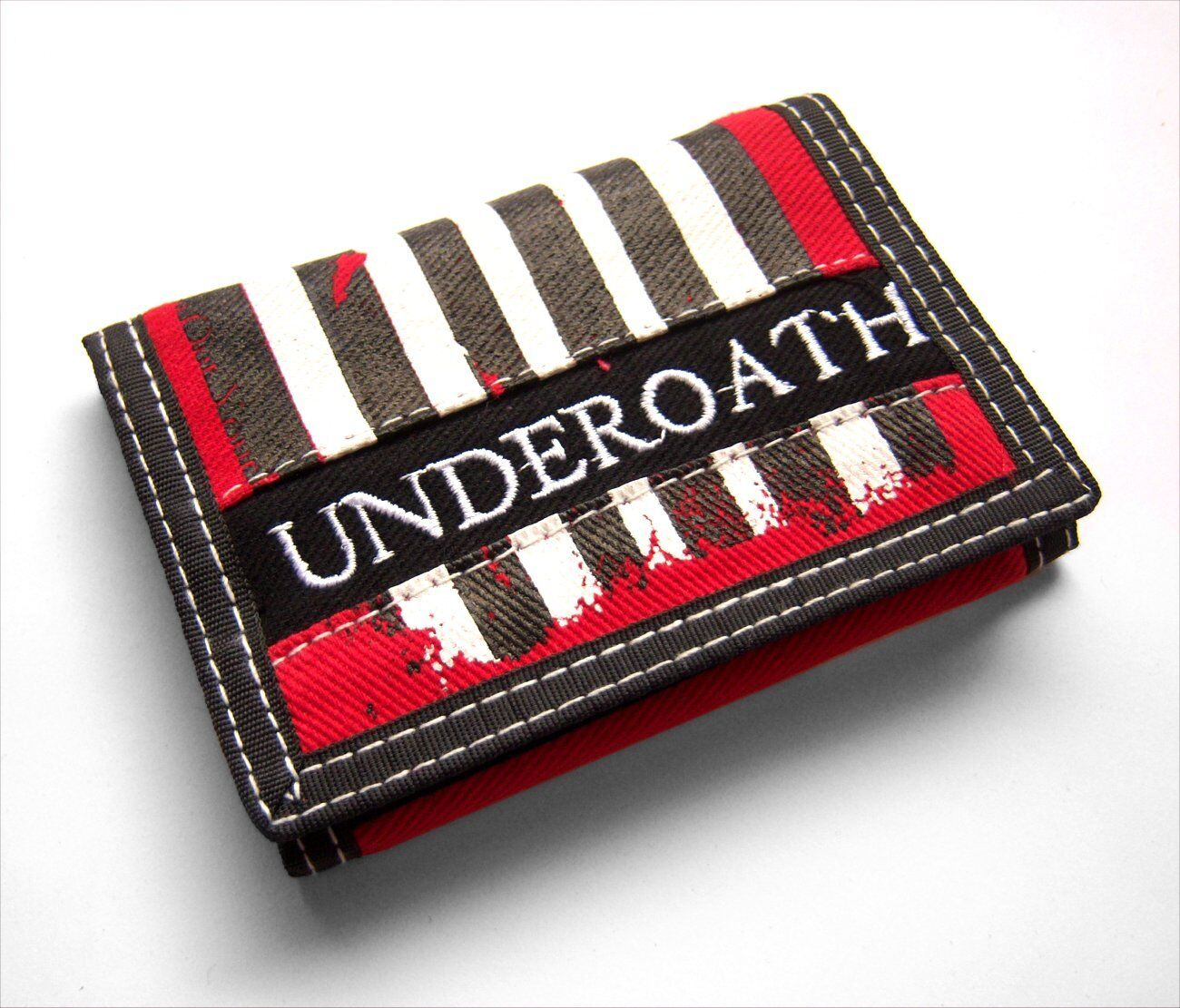 Underoath Grenades Striped Canvas Embroidered Trifold Wallet New Official
