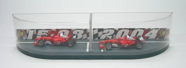 Années et bagues brillantes Ferrari F2004 M.SchumacherR.Barrichello  World Champion B6223 1/43 HotWheels   Des Technologies Sophistiquées
