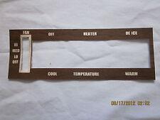 1970-72 skylark GS temperature control wood grain trim