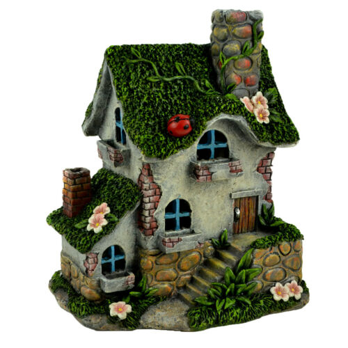 Solar Ladybug Cottage Fairy Garden Mini