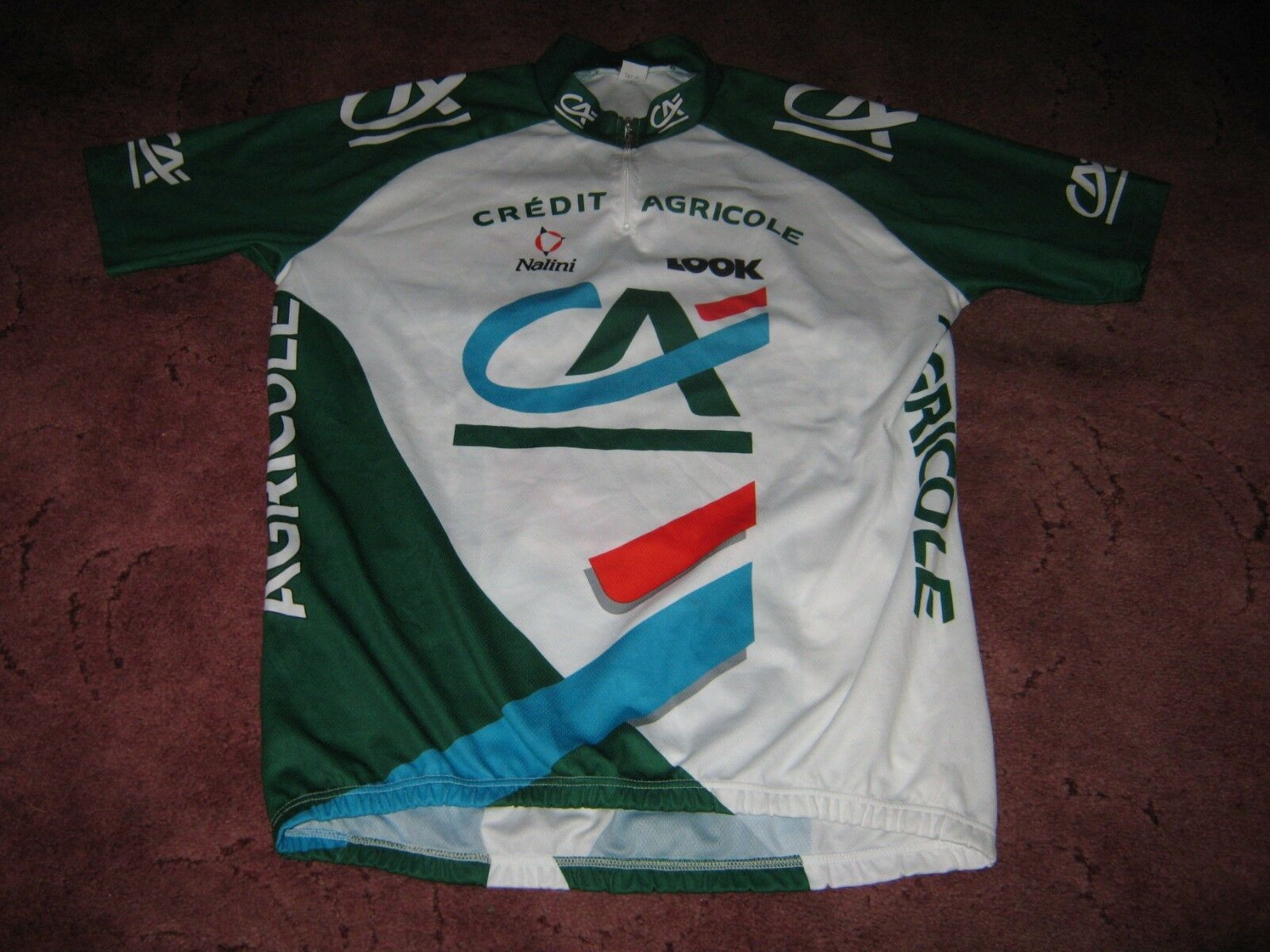 CREDIT AGRICOLE LOOK NALINI ITALIAN VINTAGE CYCLING JERSEY [7-46 ]
