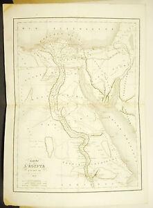 L'egypte Ancienne Egypt Ägypten Egitto Carte Ancienne 1838 Ancient Map 45cm 38cm