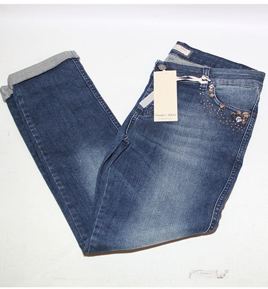 Jeans donna denim denim denim Giorgia e Johns pantalone 4f3639
