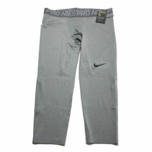 68a3132a7e644 Nike Pro Cool 3/4 Compression Pants XL Tights Gray Dri Fit Mens NWT ...