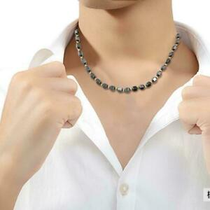 Magnetic-Black-Gold-Beads-Halskette-Haematit-Gesundheitswesen-Therapie-Magne-A4W8