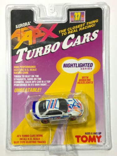 1996 TOMY Turbo AFX NISSAN CALSONIC GTR #1 Slot Car #8978 Rare Sealed Card Lit!