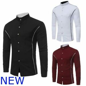 Long-Sleeve-Dress-Shirts-Mens-Shirt-Floral-Slim-Fit-Luxury-Stylish-Casual-Top