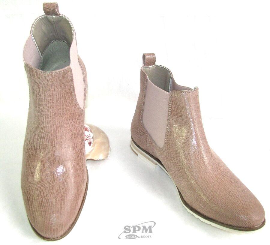 Zapatos especiales con descuento SPM ZAPATOS & BOTAS - BOTINES ESTILO HÍPICA CUERO ROSA PÁLIDO BEIGE 39 & CAJA