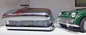 Lucas-467-2-Chrome-Brass-Glass-numberplate-light-Austin-Healey-Triumph-Morris
