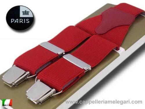 Bretelle larghe da uomo rosso Paris