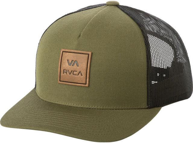 RVCA All The Way Mens Trucker Hat NEW 5 Panel Snapback OLIVE Curved Brim VA  RUCA 279ccf80938