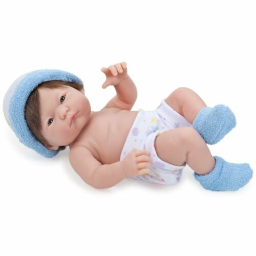 JC Toys Mini La New born in Blue Brown Hair Blue Eyes 9.5 inches