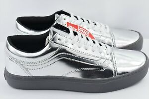 7b107e3707 Vans Old Skool Cup Mens Multi Size Metallic Silver Chrome Skate ...