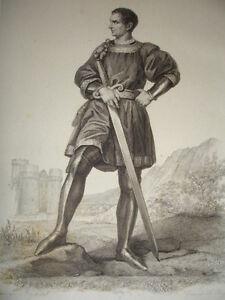 Moyen Age / Gravure 1840 / Clisson