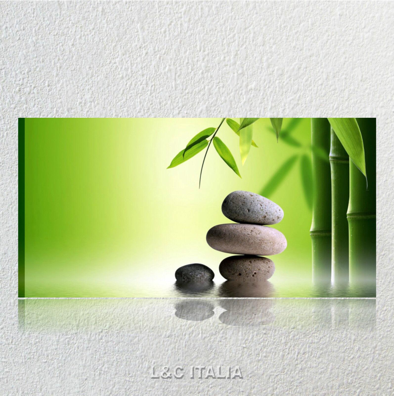 Bambu zen 3   quadro moderno XXL tela canvas 90 x 45 cm   bagno centro estetico