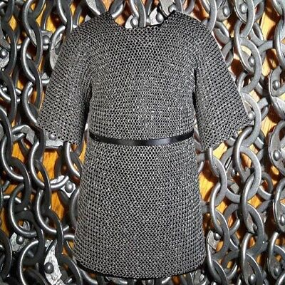 Details about  /Mild Steel Black Round Riveted Flat Washer XL Chain mail 9 mm Halloween Gift