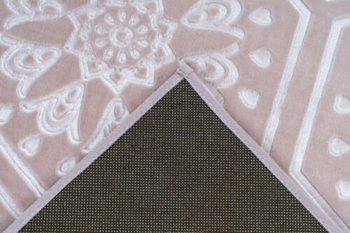 Teppich Marokkanisches Muster Ornamente Muster Teppiche Pastell Rosa 200x290cm