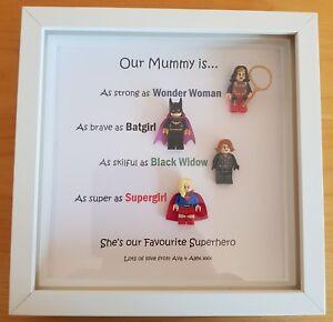Image Is Loading PERSONALISED MUMMY SUPERHERO SUPERWOMEN FRAME BIRTHDAY GIFT AUNTIE