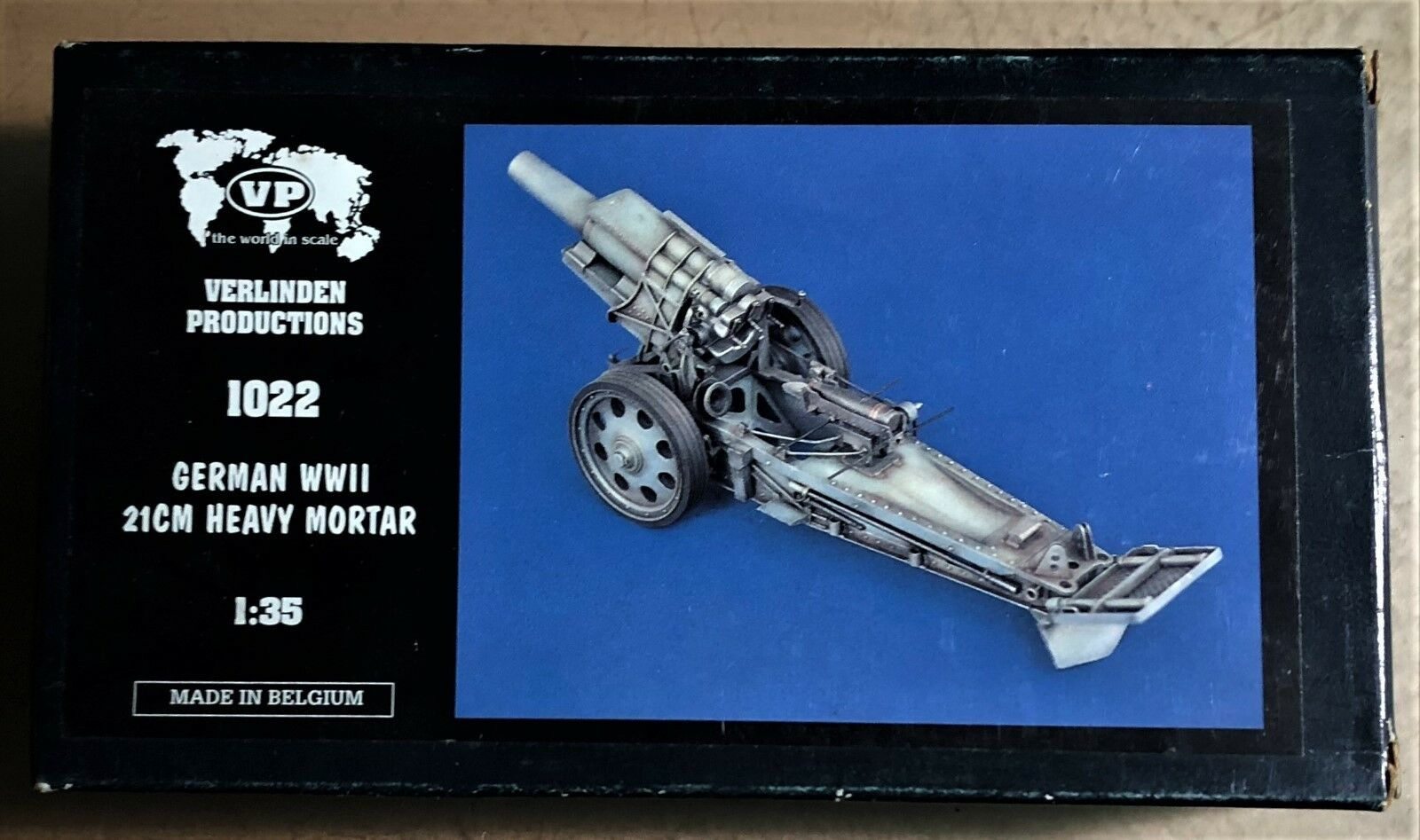 VERLINDEN 1022 - GERMAN WWII 21cm HEAVY MORTAR - 1 35 RESIN KIT NUOVO