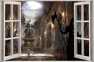 Image Is Loading Cheap 3D Window View Inside Enchanted Gothic Castle