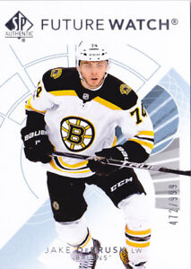 17-18-SP-Authentic-Jake-DeBrusk-999-Rookie-Future-Watch-Bruins-RC-2017