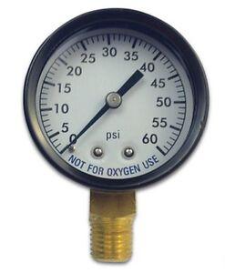 Swimming-Pool-Spa-Filter-Pressure-Gauge-w-Steel-Housing-0-60-psi-1-4-Threads