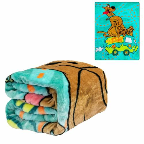 Mystery Machine Twin Size Plush Throw Blanket Licensed Scooby Doo Where Are You
