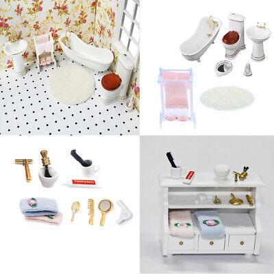 Set da bagno e accessori da bagno per la casa delle bambole in miniatura da 11TM