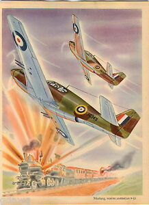 image is loading 1943 fighting war plane planes print color mustang