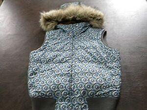 New Aeropostale Junior Girls White Zipper Coat Jacket Puffer Vest M Medium