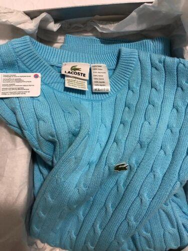 punto de lana Suéter Xs cuello de tejido con efecto de para de redondo de talla hombres Lacoste wq0HX