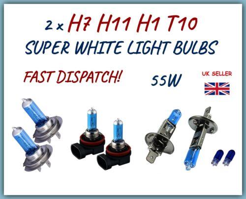 Si adatta Ford Fiesta Focus Set 2 x H7 H1 H11 501 Alogena Super Bianco Lampadine Per Auto