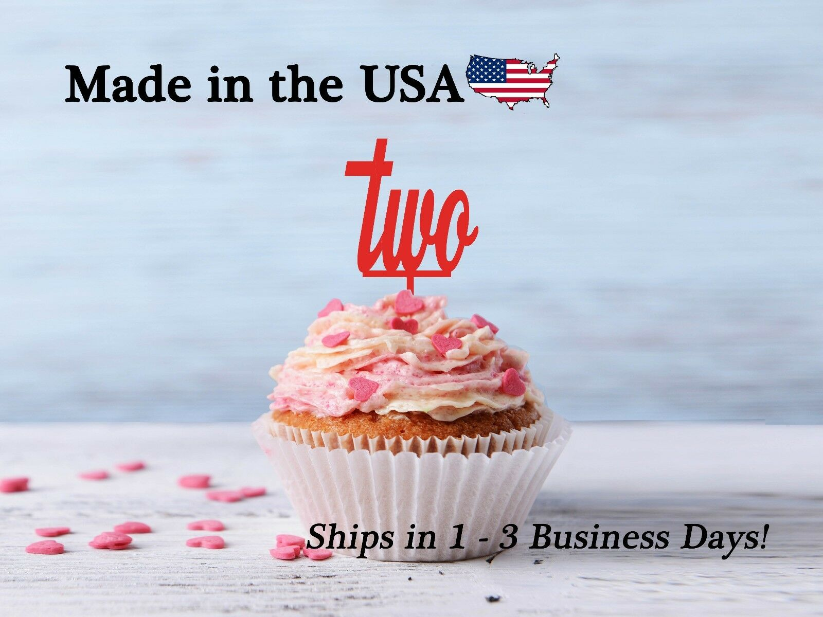 Second Birthday 2nd Cupcake Topper LCT1010 Decor Ogedha352 Cake Toppers