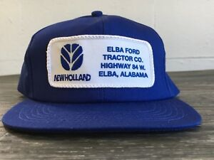 ffe6e7009 Details about K PRODUCTS Snapback Hat Vtg 80s USA New Holland Patch Work  Trucker USA Made EUC!