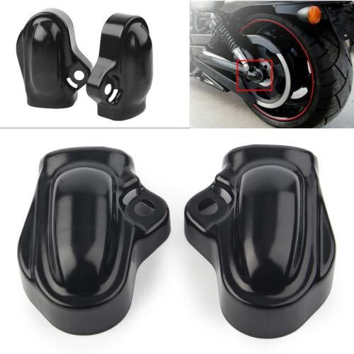 Links /& Rechts Hinten Achse Schutz Abdeckung Schwarz für Harley V-Rod VRSC 02-17