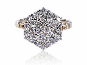 Pave-1-25-Carats-Ronde-Brillante-Couper-Diamants-Fiancailles-Bague-En-585-14K-Or