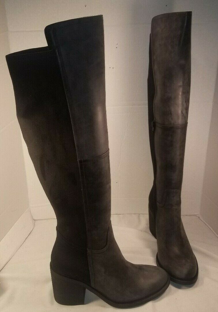 NEW FREE PEOPLE JEFFREY CAMPBELL LANDRY BLACK OVER THE KNEE BOOTS WOMEN'S US 9.5
