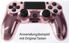 Neu Playstation PS4 Controller Case Hülle Gehäuse Chrome Modding Cover Pink