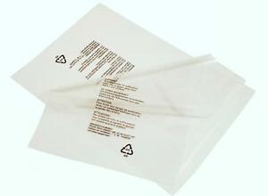 100-x-Self-adhesive-Seal-Clear-Poly-Bags-Suffocation-Warning-in-5-Languages-150G