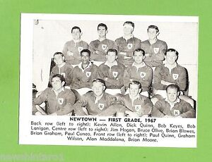 #D166. 1967 DAILY MIRROR CARD - NEWTOWN TEAM PICTURE