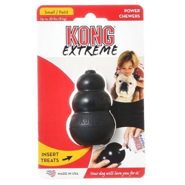 Kong EXTREME Chew Toy Strong Dog Treat Dispensing Black Small Medium LG XL XXL
